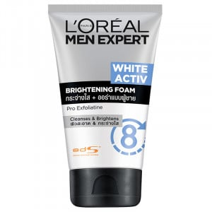 L'OREAL MEN EXPERT WHITE ACTIVE CLEANSING FOAM 100 ML.